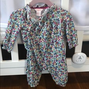 Floral long sleeve and pant romper 3 mo.